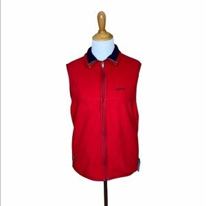 Patagonia synchilla Red &  navy blue vest sz small